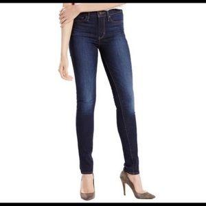 "Levi's Slimming Skinny 10"" High Rise Dark Jeans"